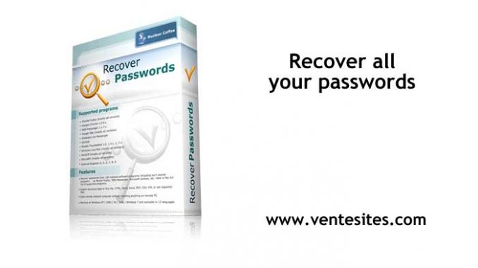 Recover all your passwords - www.ventesites.com