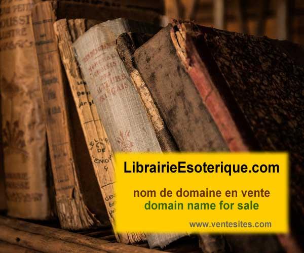 librairieEsoterique.com domain name for sale, nom de domaine en vente