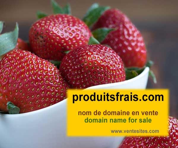 PRODUITSfrais.com nom domaine a vendre